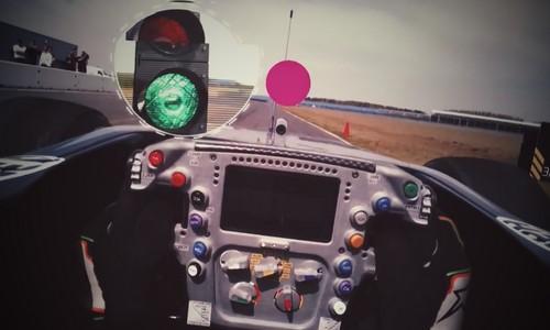 vaizdas iš F-1 bolido